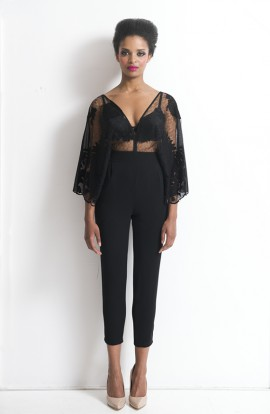 Beatriz Lace Jumpsuit with sleeves