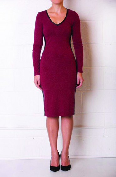 Lola Soft Cotton Dress in Moss Burgundy