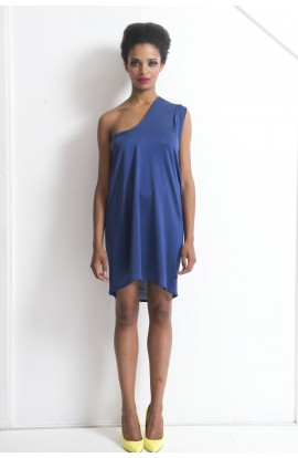 Athens Silk Jersey / Leather Dress