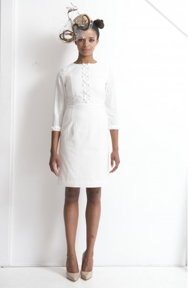 Milan Silk/Cotton Dress with sleeves
