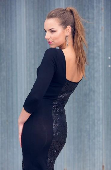 Chloe Sequined Dress (Black)