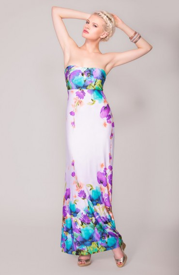 Julianne, Strapless Maxi Dress