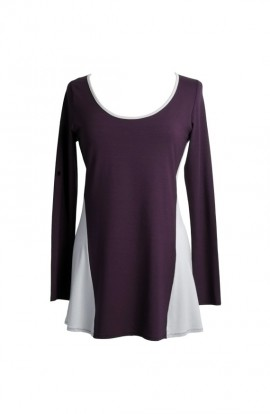 Harmony tunic in purple with contrasting sides