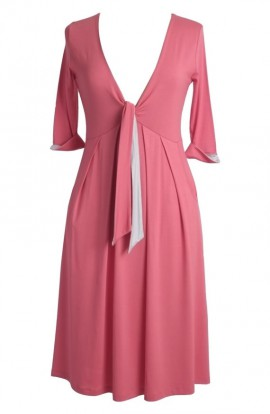 Rose Dress in Honey Melon Dove Grey