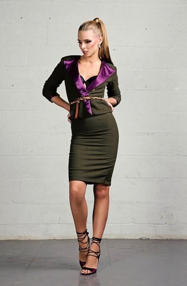Rebecca Mink Cashmere/Wool Jacket